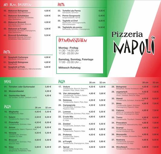 pizzeria werbung